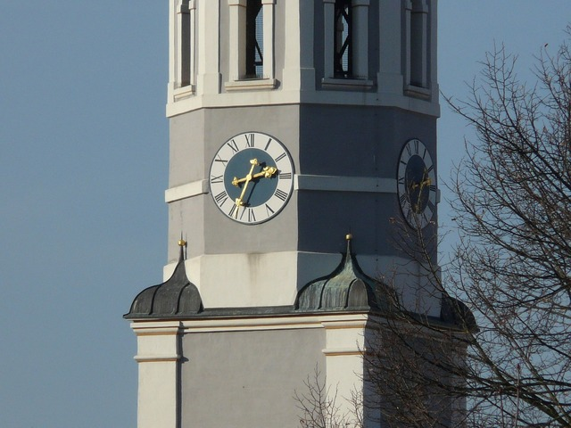 Tower clock tower church, religion.