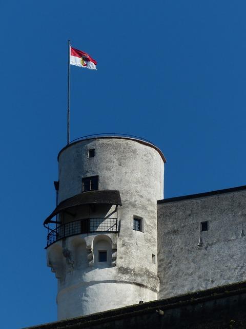 Tower flag austria, places monuments.
