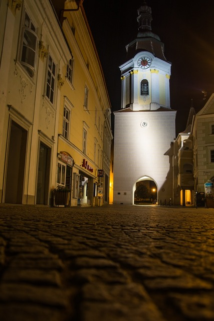 Tower krems night, architecture buildings.