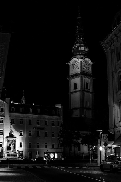 Tower night space, architecture buildings.