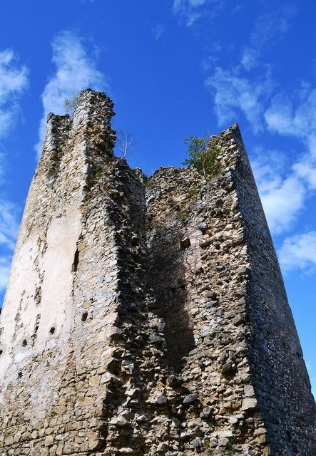 Tower ruin castle, architecture buildings.
