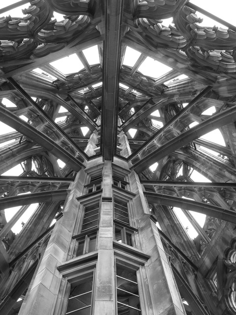 Tower spire church, religion.
