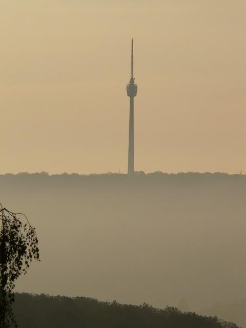 Tower tv tower stuttgart, nature landscapes.