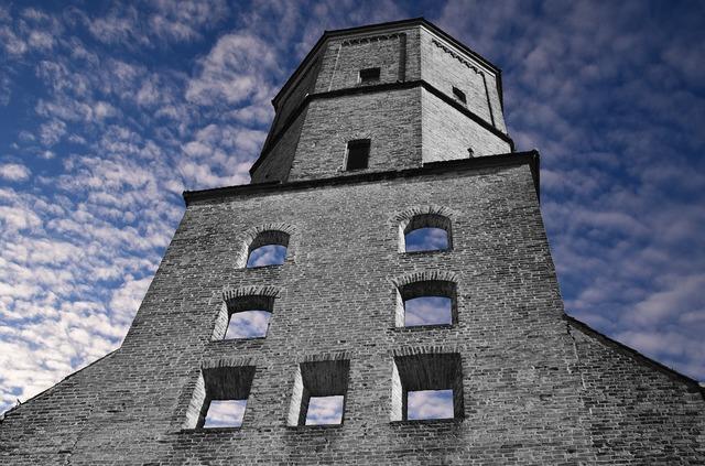 Tower watchtower ruin.