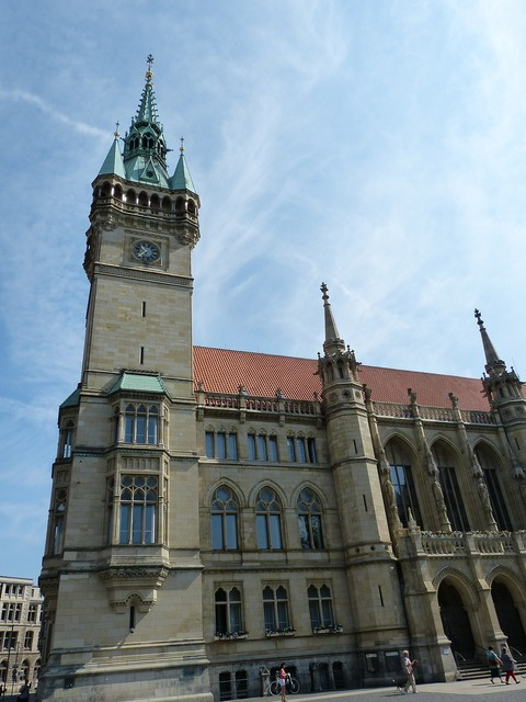 Town hall facade monument, architecture buildings.