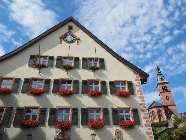 Town hall home laufenburg, architecture buildings.