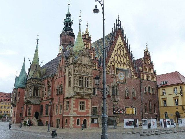 Town hall wroclaw poland, architecture buildings.