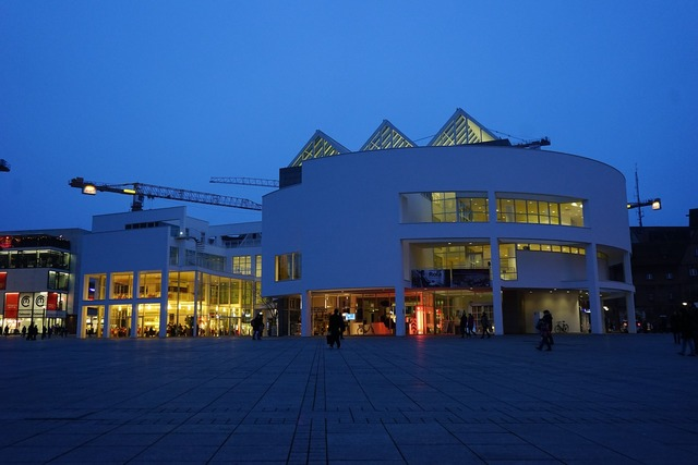 Town home stadthalle ulm, architecture buildings.