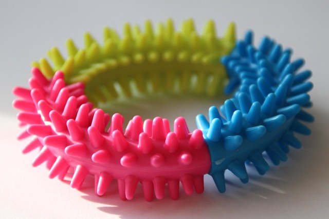 Toy dog gum, animals.