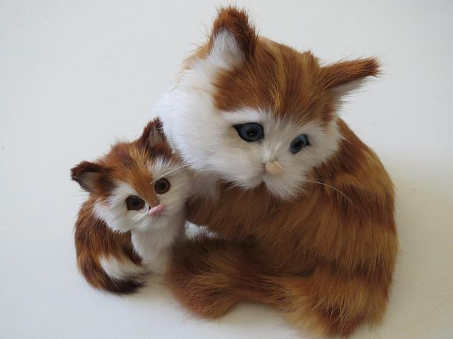Toy kitten furry, animals.