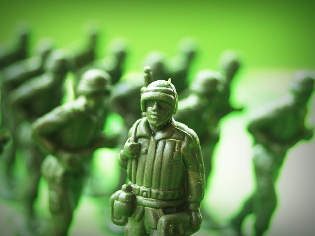 Toy soldier plastic, people.