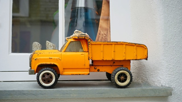 Toy truck vehicle, transportation traffic.