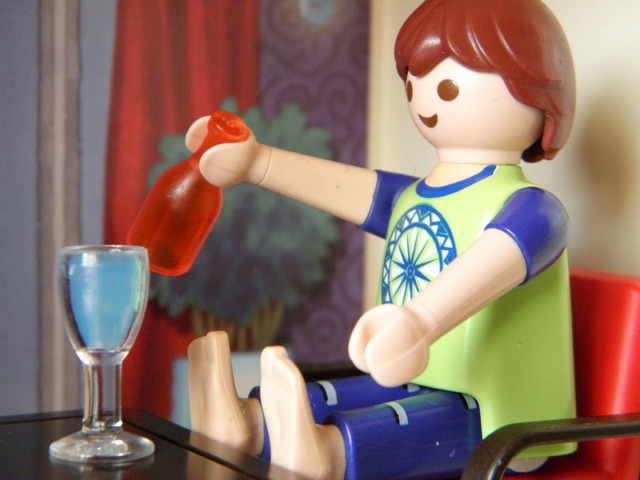 Toys playmobil sit, food drink.