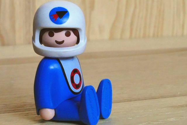 Toys spaceman character, science technology.