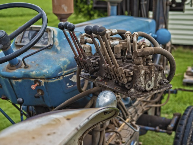 Tractor controls equipment, industry craft.