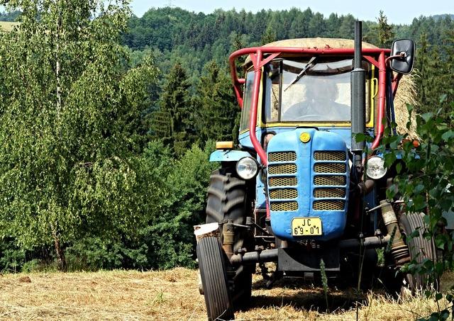Tractor field zetor.