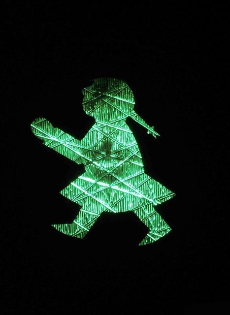 Traffic lights little green man ddr, transportation traffic.