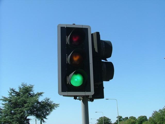 Traffic lights uk sunshine, transportation traffic.