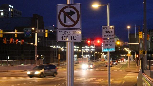 Traffic street night, transportation traffic.