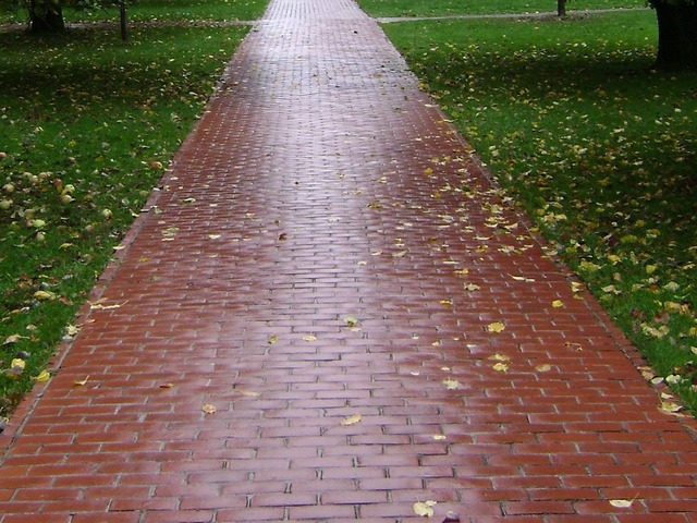 Trail bricks paved.