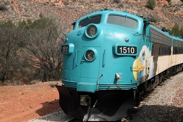 Train railroad verde canyon.