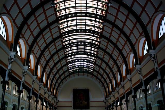 Train station interior vaulted ceiling, architecture buildings.