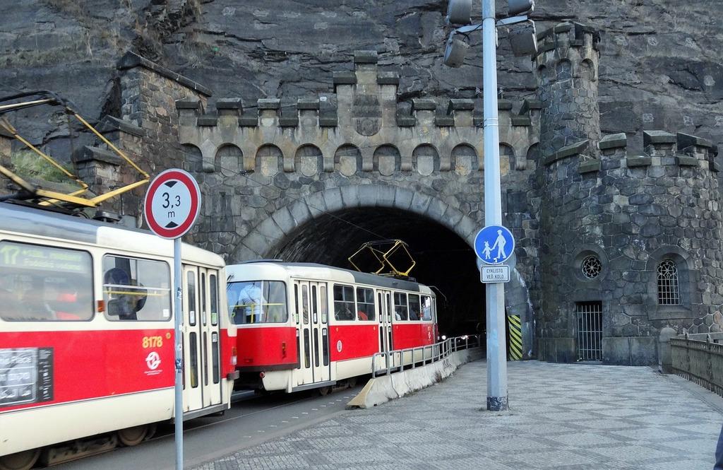 Tram prague czech, architecture buildings.