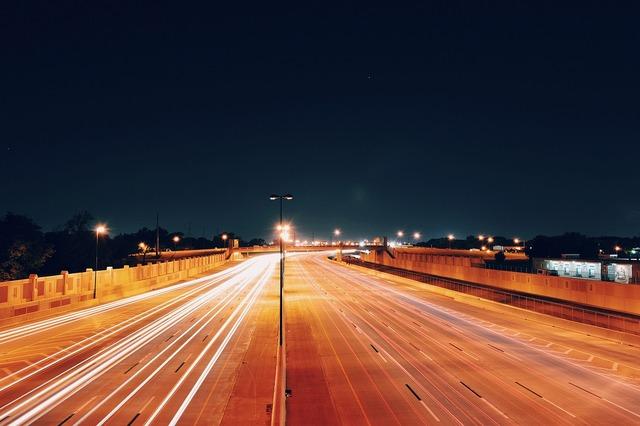 Transport highway lights, transportation traffic.