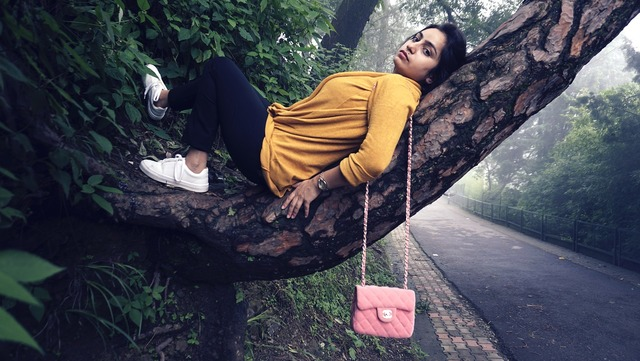 Tree fashion photoshoot, beauty fashion.