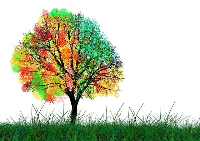 Tree graphic kringel, backgrounds textures.