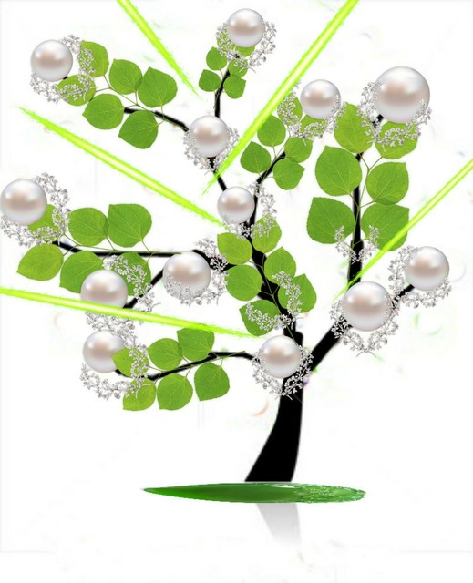 Tree pearls imaginary.