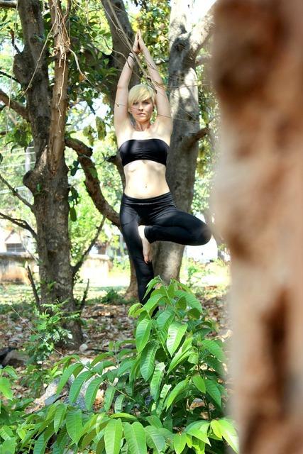 Tree pose yoga ashtanga, beauty fashion.
