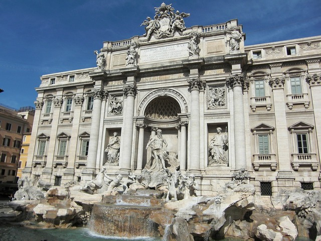 Trevi fountain rome italy, architecture buildings.
