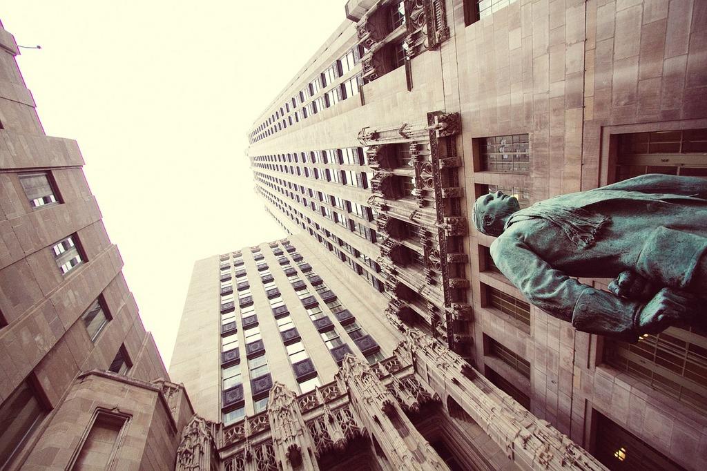Tribune building chicago skyscrapers.