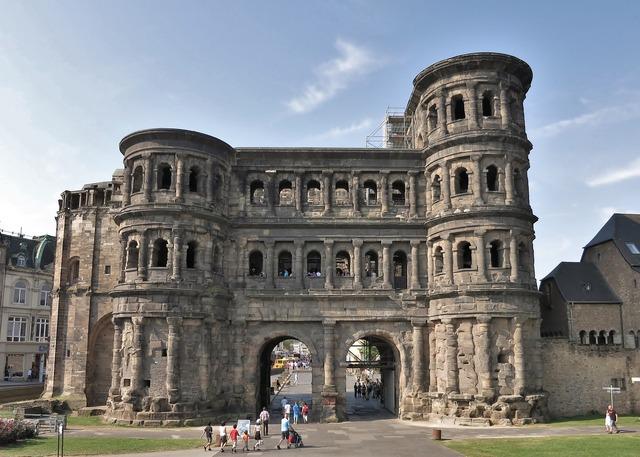 Trier landmark building, places monuments.