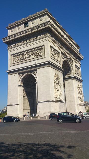 Triumphal arch paris arc de triomphe, architecture buildings.