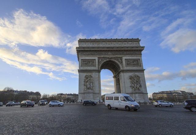 Triumphal arch paris france.