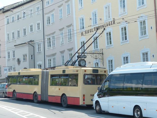Trolley bus bus traffic, transportation traffic.