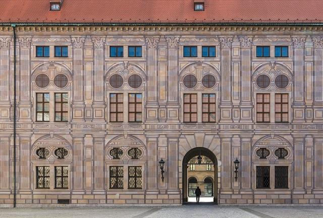Trompe l'oeil kaiserhof munich, architecture buildings.