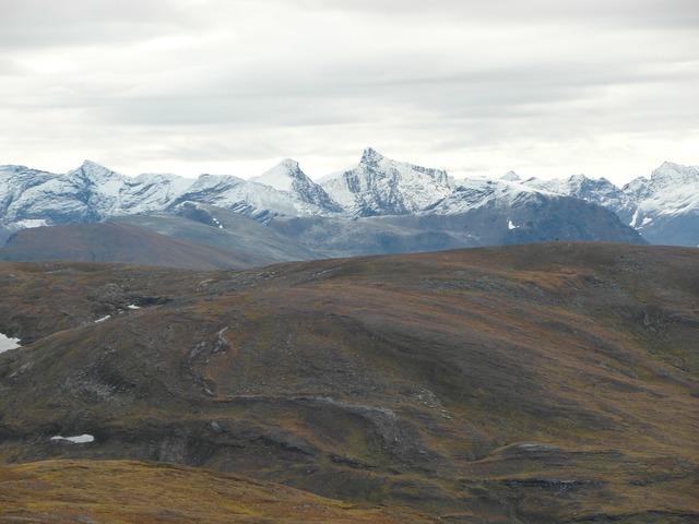 Tromso mountains snow.
