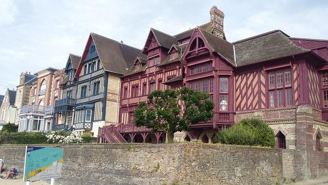 Trouville-sur-mer france normandy, architecture buildings.