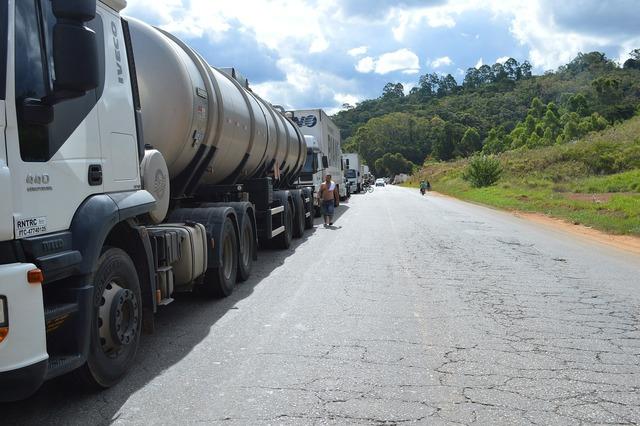 Truck brazil road, transportation traffic.