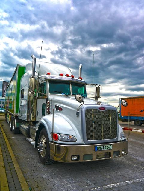 Truck hdr logistics, transportation traffic.