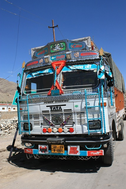 Truck india overloaded, transportation traffic.