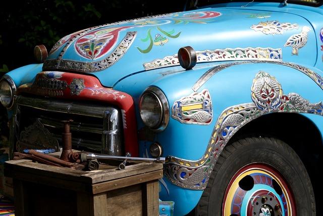 Truck india vintage, transportation traffic.