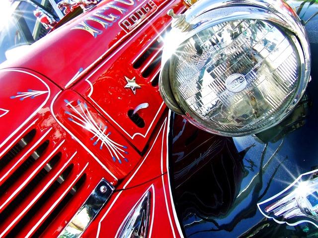 Truck vintage truck red, transportation traffic.