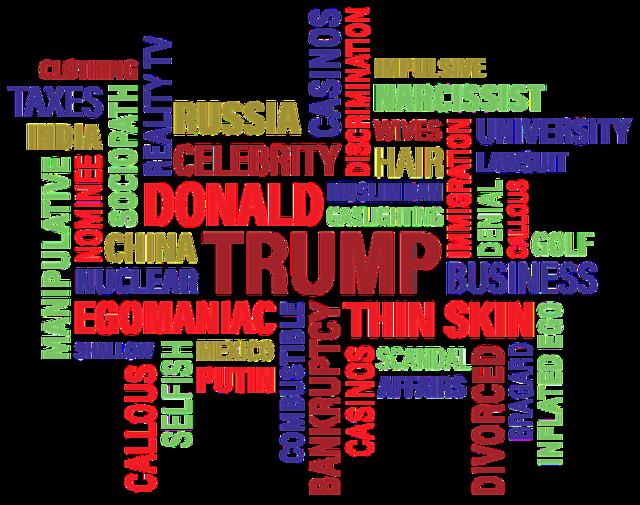 Trump donald j trump word cloud, business finance.