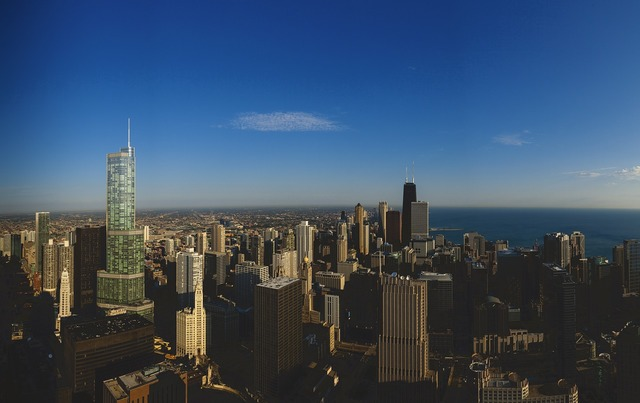 Trump tower chicago cityscape, travel vacation.