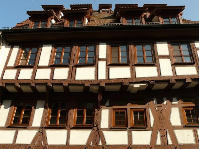 Truss fachwerkhaus bar, architecture buildings.