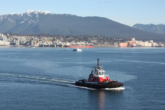 Tugboat blue harbor.